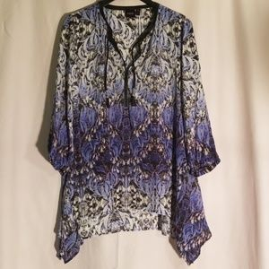 Nwot rafaella tunic blouse patterned